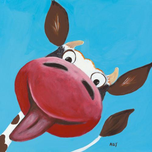 Blue Cow Wall Art Print