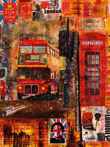 London in Winter Wall Art Print