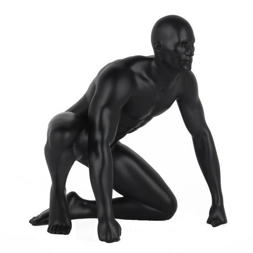 Poly Resin Redemption Sculpture Matte Black