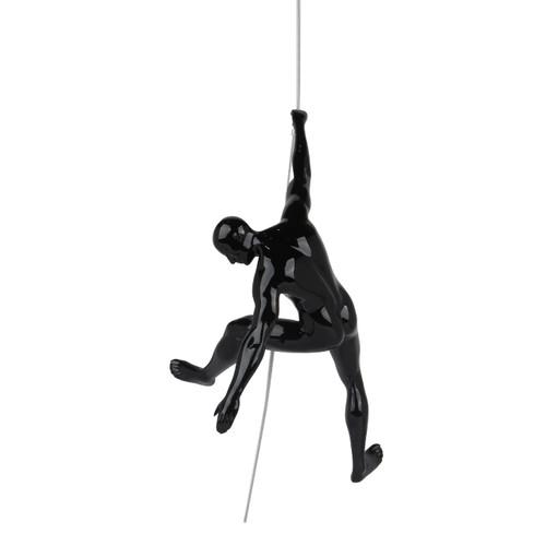 Poly Resin Climbing Man C Black Gloss