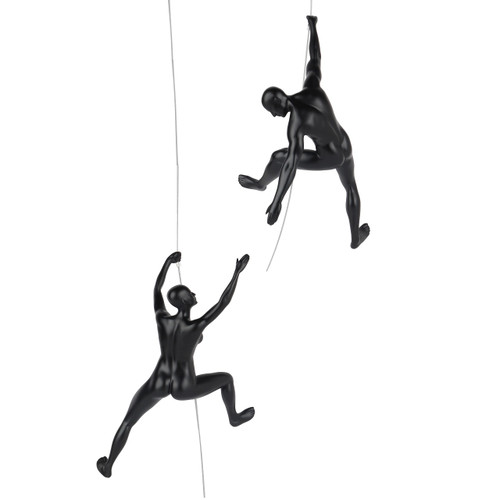 Poly Resin Climbing Couple C Matte Black