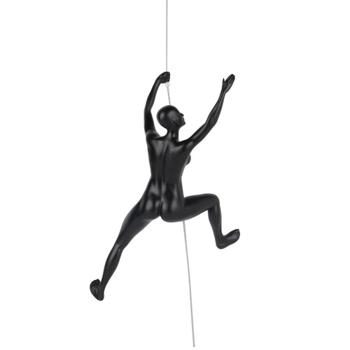 Poly Resin Climbing Woman C Matte Black