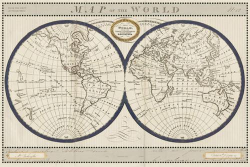 Torkingtons World Map Wall Art Print