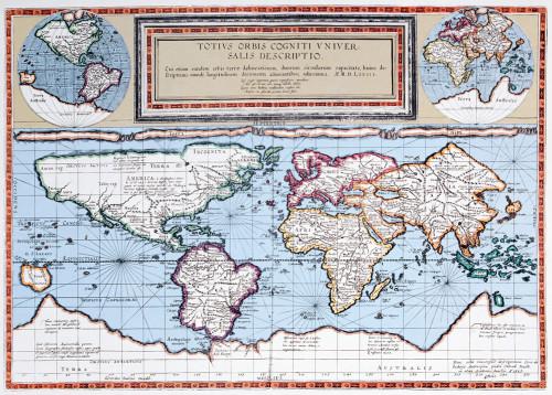 Vintage Map II Wall Art Print