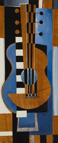 Blues Guitar Wall Art Print