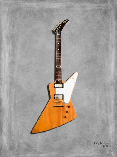 Gibson Explorer 58 Wall Art Print