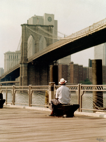 New York Man at the Brooklyn I Wall Art Print