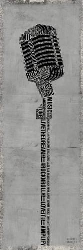 Type Mic Gray Wall Art Print