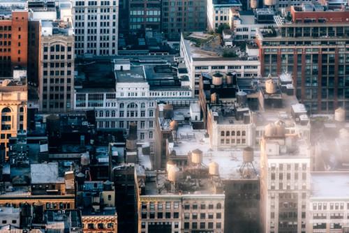 New York Rooftop Wall Art Print