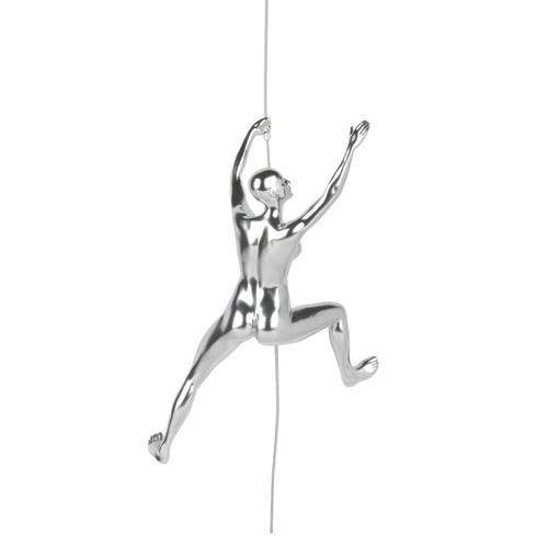 Poly Resin Climbing Woman C Steel