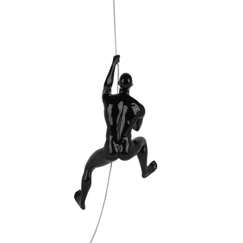 Poly Resin Climbing Man D Black Gloss
