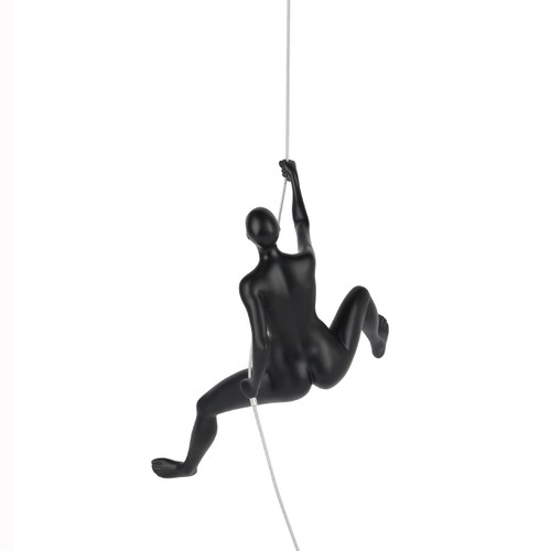 Poly Resin Climbing Woman D Matte Black