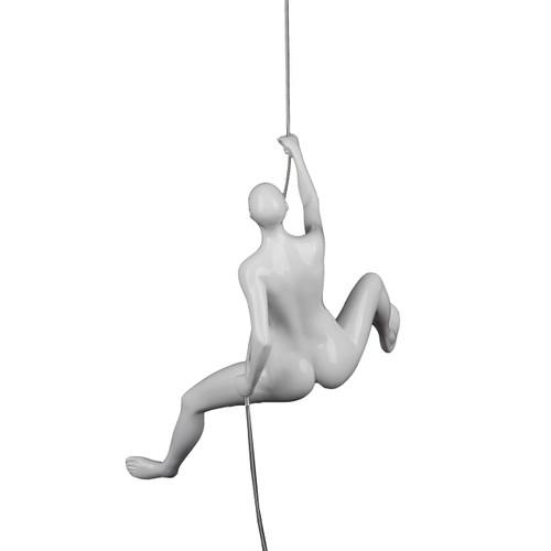 Poly Resin Climbing Woman D White