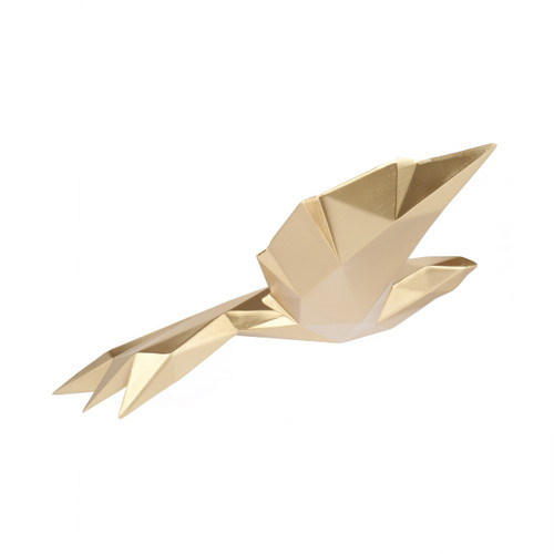 Poly Resin Origami Flying Bird Small Gold
