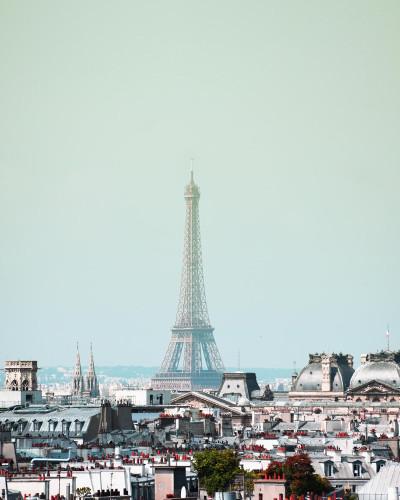 Eiffel Day Wall Art Print