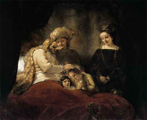 Jacob Blessing The Sons Of Joseph Rembrandt