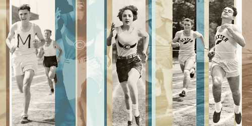 Vintage Running Wall Art Print