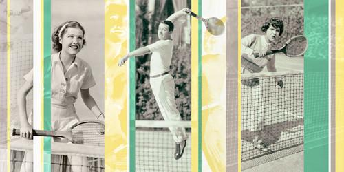 Vintage Tennis Wall Art Print