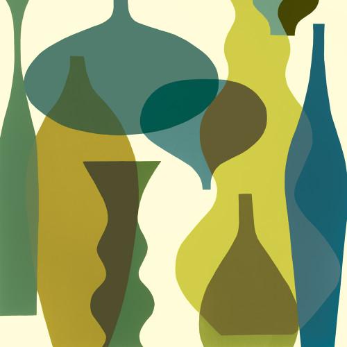 Floating Vases IV Wall Art Print