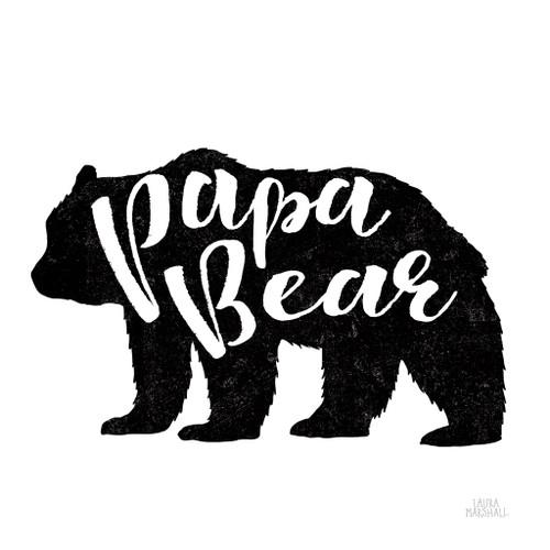 Papa Bear Wall Art Print