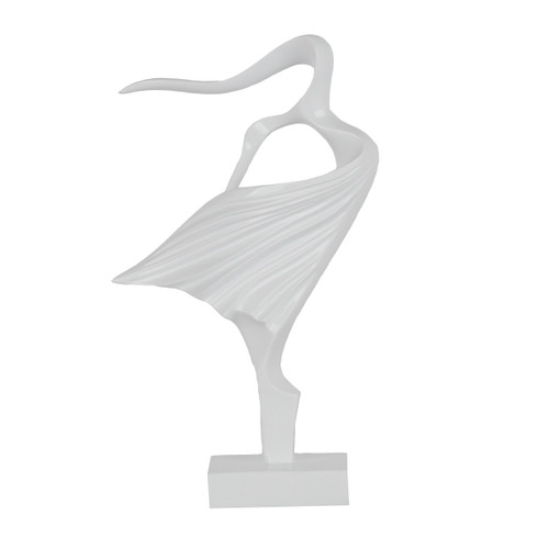 Poly Resin Lucette Abstract Woman White 25cm