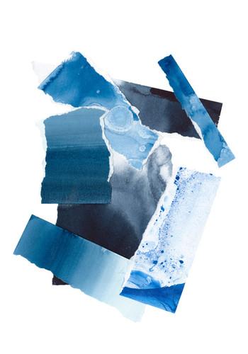 Cerulean Assemblage I Wall Art Print