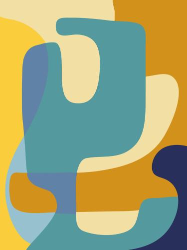 Vibrant Theory I Wall Art Print