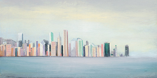 New York Skyline Blue Wall Art Print