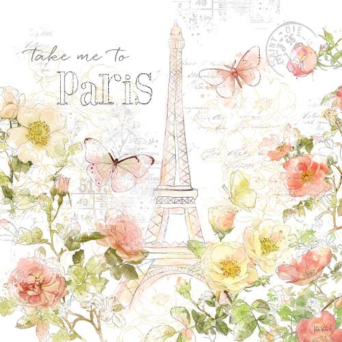 Painting Paris II Wall Art Print