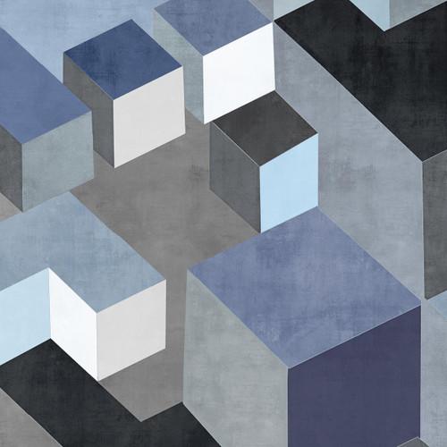 Cubic in Blue II Wall Art Print