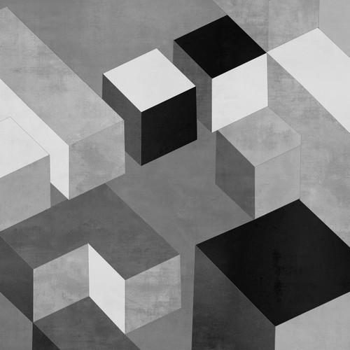 Cubic in Grey II Wall Art Print