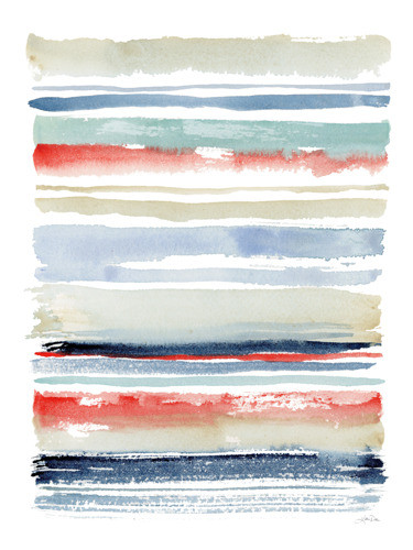 Nautical Stripes Wall Art Print