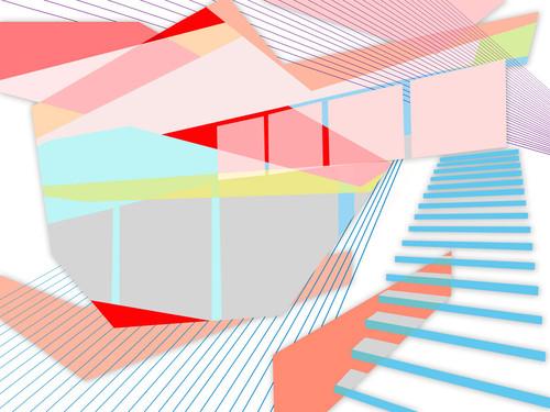 Colour Planes II Wall Art Print
