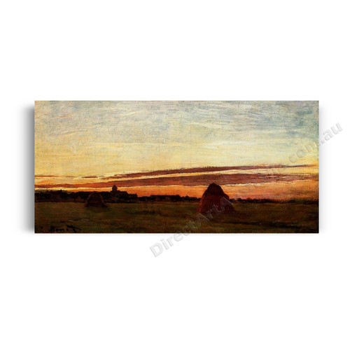 Grainstacks at Chailly at Sunrise