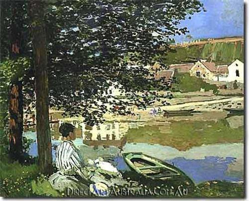 Monet   River Scene at Bennecourt