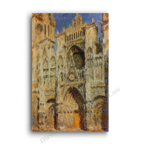 Rouen Cathedral Sunlight Effect2