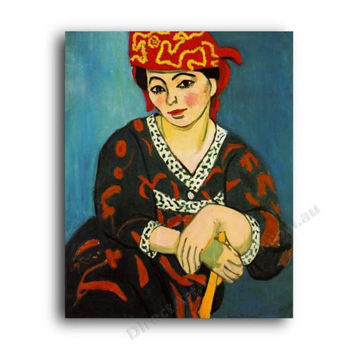 The Red Madras Headress