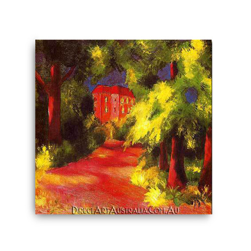 Red House in a Park