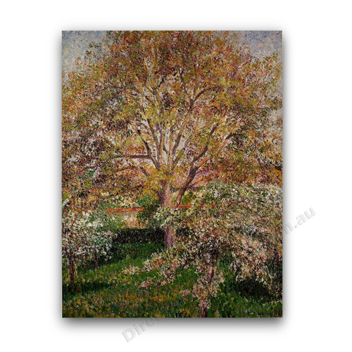 The Walnut and Apple Trees in Bloom at Eragny