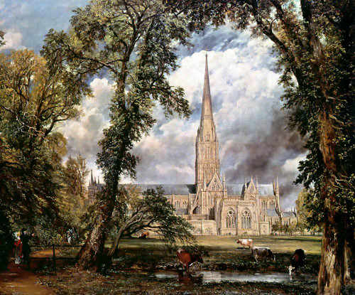 Salisbury Cathedral from Bishop's Grounds
