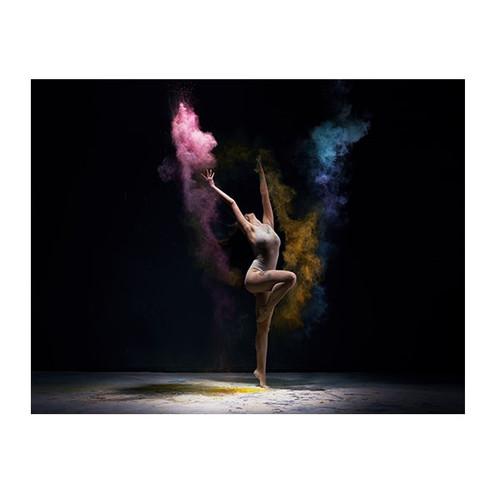 Colorful Gymnast Wall Art Print