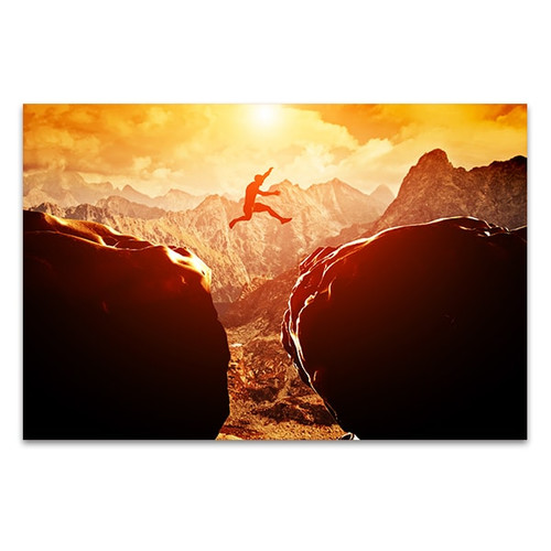 Jump on Mountain Art Print