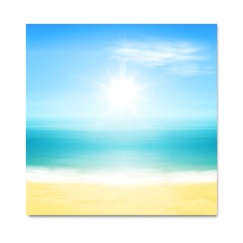 Beach and Sun Art Print