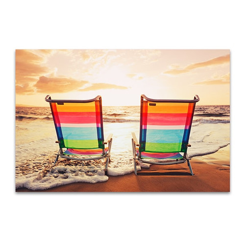 Beach Chairs Wall Art Print