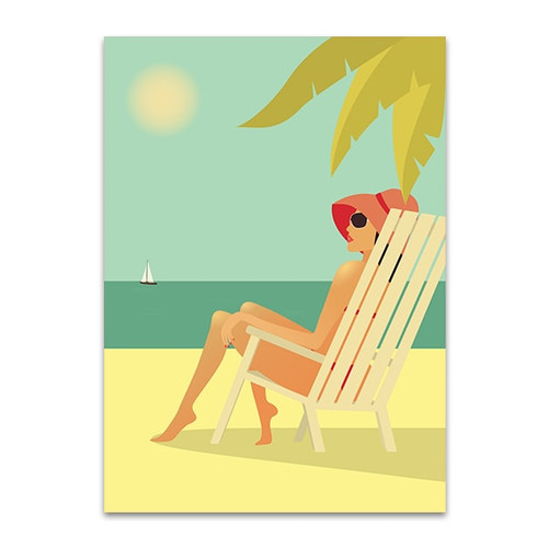 Beach Girl Canvas Art Print