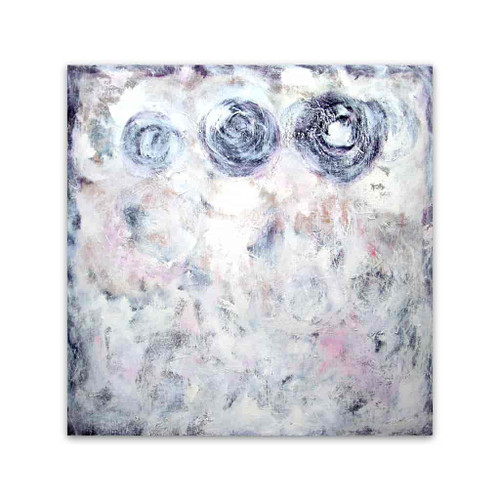 Brooke Howie | White Abstract with Circles