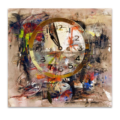Distorted Time Canvas Art Print