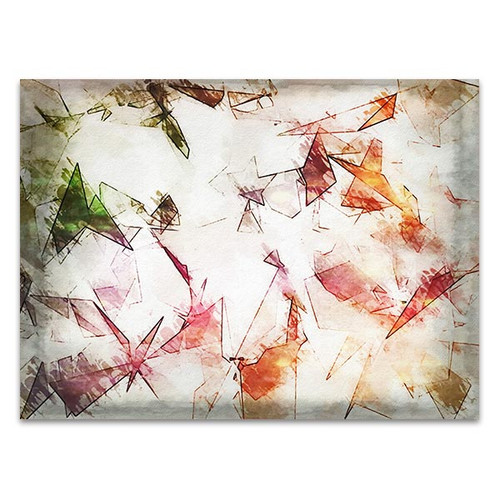 Elegant Colored Abstract Art Print