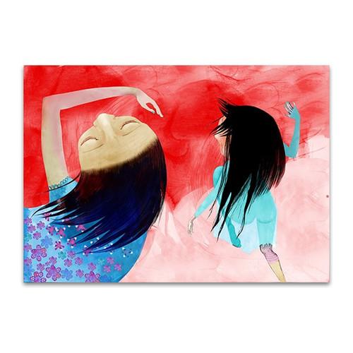 Girls Dancing Art Print