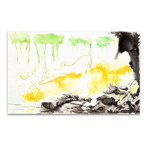 Green, Yellow and Black Art Print